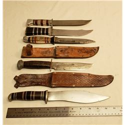 Five Hunting Knives