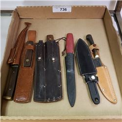 6 Fishing Knives With Sheaths