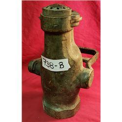 Vintage Brass Firetruck Pump