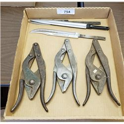 Box Lot Of Cutters And Knife Blades