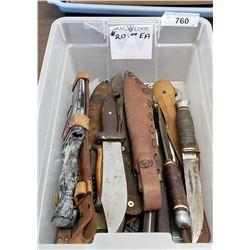 Over 20 Vintage Knives