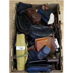 Large Box Of Assorted Leather Goods