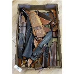 Great Box Of Vintage Knife Sheaths