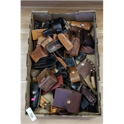 Vintage Box Of Leather Cases
