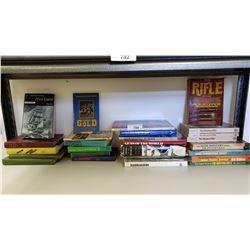 Shelf Lot Of Gun Books