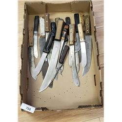 Box Of 20 Vintage Knives And Skinners