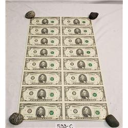 16 US, Uncut 5 Bills