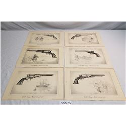 1950'S 6 Prints Of Colts