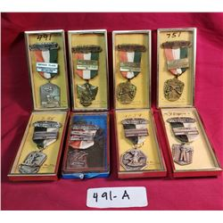Group Of 8 Boxed Sharpshooting Medals From The 1960's