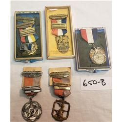 5 Assorted Shooting Medals 1960's
