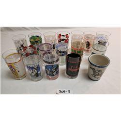 Group of 16 Original Kentucky Derby Glasses Plus 1 Mug