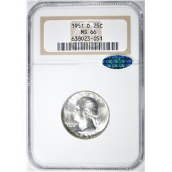 1951-D WASHINGTON QUARTER NGC MS-66 CAC