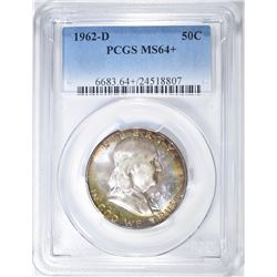 1962-D FRANKLIN HALF DOLLAR PCGS MS-64+