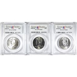 2010-P & 2- 2010-D KENNEDY HALVES PCGS SP-68