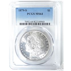 1879-S MORGAN DOLLAR, PCGS MS-64
