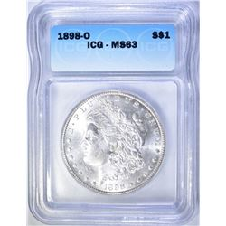 1898-O MORGAN DOLLAR  ICG MS-63
