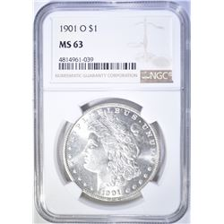 1901-O MORGAN DOLLAR  NGC MS-63