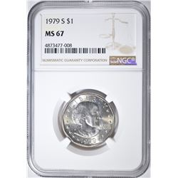 1979-S S.B.A ANTHONY DOLLAR, NGC MS-67