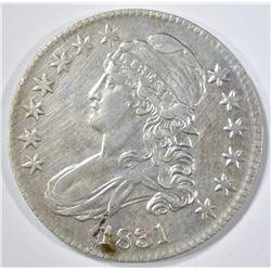 1831  BUST HALF DOLLAR OBV. LAMINATION