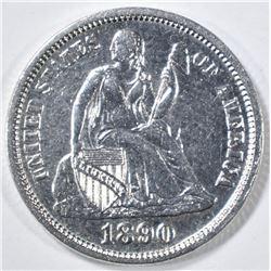 1890 SEATED LIBERTY DIME  CH/ GEM BU