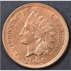 1906 INDIAN HEAD CENT RB  CH BU