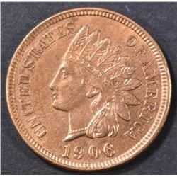 1906 INDIAN HEAD CENT RB  CH BU
