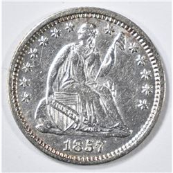1857-O SEATED LIBERTY HALF DIME  CH AU