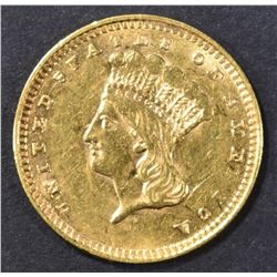 1856 $1 GOLD INDIAN PRINCESS  CH AU