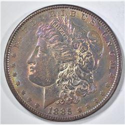 1885 MORGAN DOLLAR  BU  RAINBOW TONING