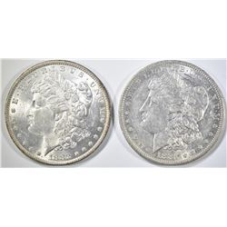 1881-O AU & 1882 AU MORGAN DOLLARS