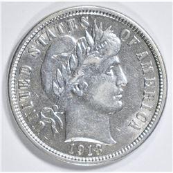 1913 BARBER DIME  AU