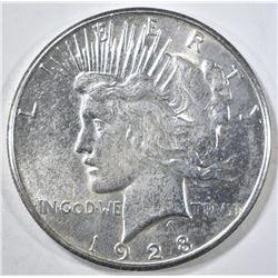 1928-S PEACE DOLLAR  BU