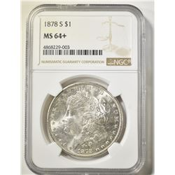 1878-S  MORGAN DOLLAR NGC MS-64+