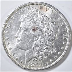 1879-O MORGAN DOLLAR BU MARK ON OBV.