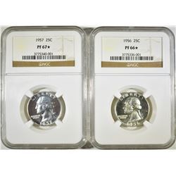 2 NGC PROOF WASHINGTON QUARTERS