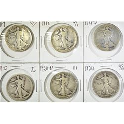 WALKING LIBERTY HALF DOLLAR LOT