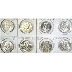 BU FRANKLIN HALF LOT 6 1963-D, 62-D, 60-D