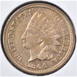 1864 CN INDIAN HEAD CENT  VERY CH BU