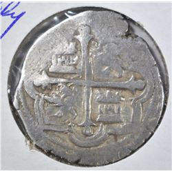 14-15TH CENTURY SILVER COB (PIRATE MONEY) 2 REALES