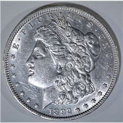 1892 MORGAN DOLLAR  AU/BU