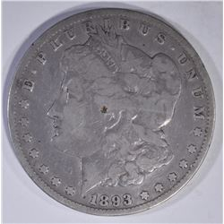 1893-CC MORGAN DOLLAR  DAMAGE  VG/F
