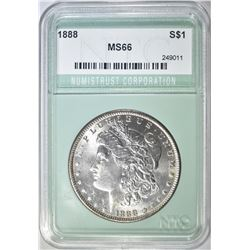 1888 MORGAN DOLLAR NTC SUPERB GEM BU