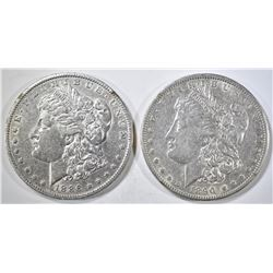 1886-O & 1890-O AU MORGAN DOLLARS
