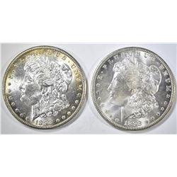 2 1898-O MORGAN DOLLARS CH BU