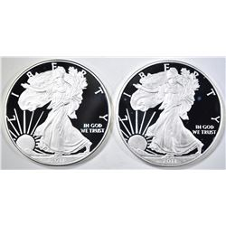 2 2011 PROOF SILVER EAGLES