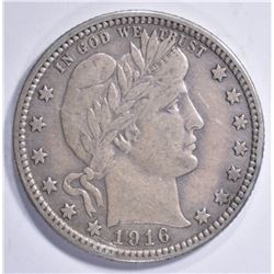 1916-D BARBER QUARTER, XF
