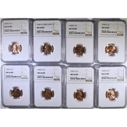 8-D MINT LINCOLN CENTS NGC MS66 RED: