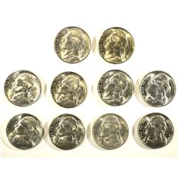 10-1944-S BU SILVER JEFFERSON NICKELS