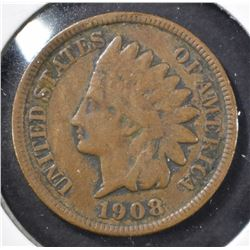 1908-S INDIAN CENT, VG