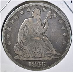 1846 SEATED HALF DOLLAR, FINE+